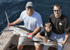 Even the youngest anglers enjoy catching Virginia Beach white marlin.