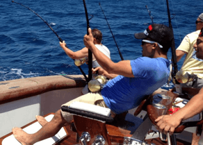 Fighting a big tuna is what offshore fishing is all about.